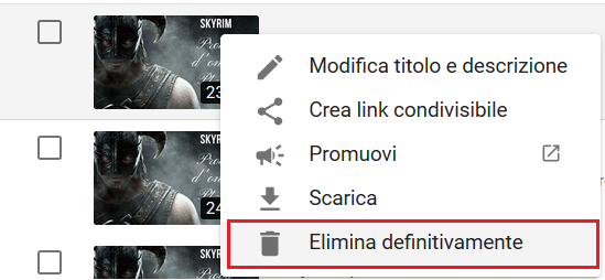 Cancellare Video da YouTube - Elimina Definitivamente