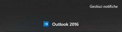 Disabilitare le Notifiche di Outlook - Gestisci notifiche